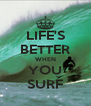 LIFE'S BETTER WHEN YOU SURF - Personalised Poster A4 size