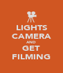 LIGHTS CAMERA AND GET FILMING - Personalised Poster A4 size