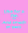 Like for a Tbh Rate And smash or pass  - Personalised Poster A4 size