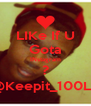 LIKe If U Gota INstagram ? FM:@Keepit_100Lance - Personalised Poster A4 size