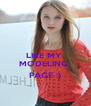 LIKE MY   MODELING  PAGE :) - Personalised Poster A4 size