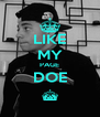 LIKE MY PAGE DOE ^ - Personalised Poster A4 size