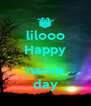 lilooo Happy 😜 name day - Personalised Poster A4 size
