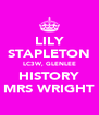 LILY STAPLETON LC3W, GLENLEE HISTORY MRS WRIGHT - Personalised Poster A4 size