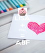 LISA + FELI = ABF - Personalised Poster A4 size