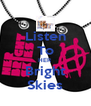 Listen To HER Bright Skies - Personalised Poster A4 size