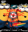 LISTEN TO MUSIC AND SAY LOL - Personalised Poster A4 size