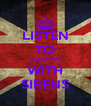 LISTEN TO SLEEPING WITH SIRENS - Personalised Poster A4 size