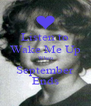 Listen to Wake Me Up When September Ends - Personalised Poster A4 size