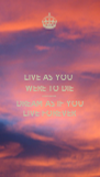 LIVE AS YOU  WERE TO DIE TOMORROW DREAM AS IF YOU LIVE FOREVER - Personalised Poster A4 size