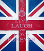 LIVE LAUGH AND LOVE FOREVER - Personalised Poster A4 size
