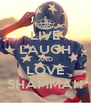 LIVE LAUGH AND LOVE SHAMMAH - Personalised Poster A4 size