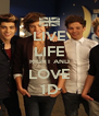 LIVE LIFE RIGHT AND LOVE 1D - Personalised Poster A4 size