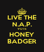 LIVE THE N.A.P. VOTE HONEY BADGER - Personalised Poster A4 size