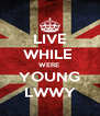 LIVE WHILE  WERE  YOUNG LWWY - Personalised Poster A4 size