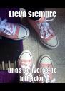 Lleva siempre unas Converse de imitación - Personalised Poster A4 size