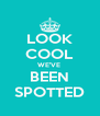 LOOK COOL WE'VE  BEEN SPOTTED - Personalised Poster A4 size