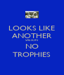 LOOKS LIKE ANOTHER SAESON NO TROPHIES - Personalised Poster A4 size