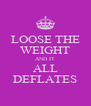 LOOSE THE WEIGHT AND IT ALL DEFLATES - Personalised Poster A4 size