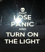 LOSE PANIC AND TURN ON THE LIGHT - Personalised Poster A4 size