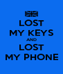 LOST MY KEYS AND LOST MY PHONE - Personalised Poster A4 size