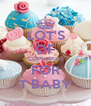 LOT'S OF CUPCAKES FOR T BABY - Personalised Poster A4 size