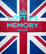 LOTTIE'S MEMORY BOOK   - Personalised Poster A4 size