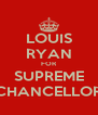 LOUIS RYAN FOR SUPREME CHANCELLOR - Personalised Poster A4 size