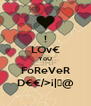 ! LOv€ YoU FoReVeR D€€/>¡|《@ - Personalised Poster A4 size