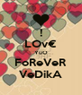 ! LOv€ YuO FoReVeR VeDikA - Personalised Poster A4 size