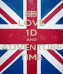LOVE 1D AND ADVENTURE TIME - Personalised Poster A4 size