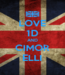 LOVE 1D AND CIMOR ELLI - Personalised Poster A4 size