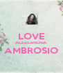 LOVE ALESSANDRA AMBROSIO  - Personalised Poster A4 size