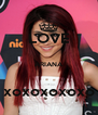 LOVE  ARIANA  xoxoxoxoxo - Personalised Poster A4 size
