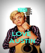 LOVE  AUSTIN - Personalised Poster A4 size