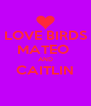 LOVE BIRDS MATEO  AND CAITLIN  - Personalised Poster A4 size