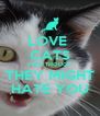 LOVE  CATS EVEN THOUGH THEY MIGHT HATE YOU - Personalised Poster A4 size