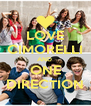 LOVE CIMORELLI AND  ONE DIRECTION - Personalised Poster A4 size