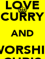LOVE CURRY AND WORSHIP CHRIS - Personalised Poster A4 size