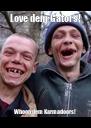 Love dem Gators! Whoop dem Karmadoors! - Personalised Poster A4 size
