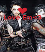 Love Em<3     - Personalised Poster A4 size