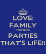 LOVE: FAMILY FRIENDS PARTIES THAT'S LIFE!! - Personalised Poster A4 size