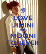 LOVE JIMINI AND MOONI FOREVER - Personalised Poster A4 size