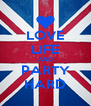 LOVE LIFE AND PARTY HARD - Personalised Poster A4 size