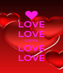LOVE LOVE LOVE LOVE LOVE - Personalised Poster A4 size