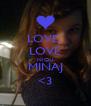 LOVE  LOVE NICKI MINAJ <3 - Personalised Poster A4 size