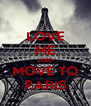 LOVE ME AND MOVE TO PARIS - Personalised Poster A4 size