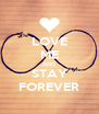 LOVE ME AND STAY FOREVER - Personalised Poster A4 size