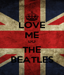 LOVE ME DO THE BEATLES - Personalised Poster A4 size