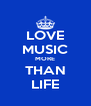 LOVE MUSIC MORE THAN LIFE - Personalised Poster A4 size